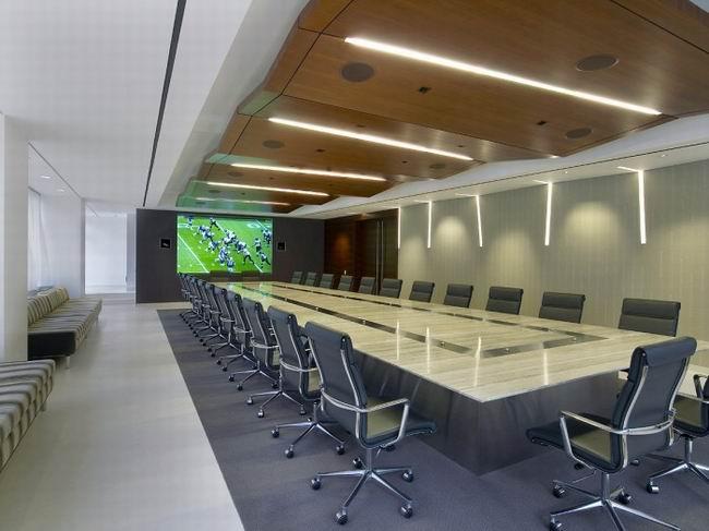 橄榄球联盟办公室设计—视频会议室