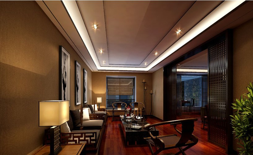 700平方现代中式办公室装饰案例 - 办公室装修 - 办公