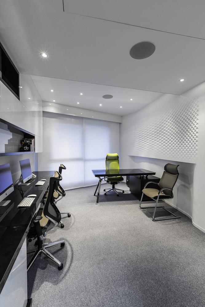 办公室参数模式墙面设计