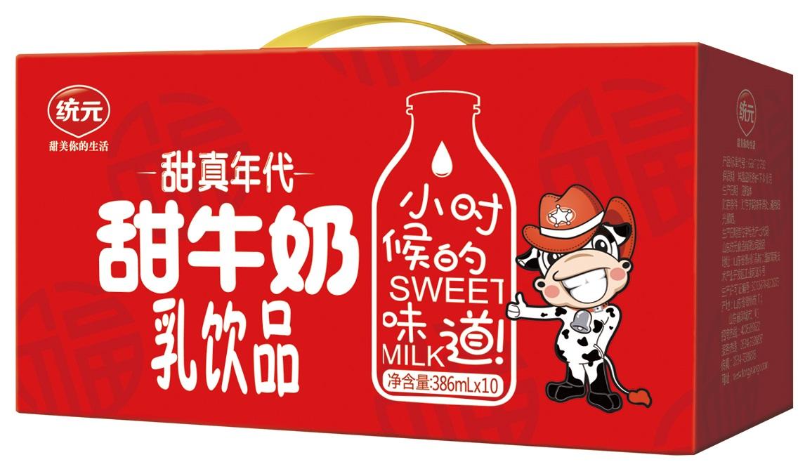 甜牛奶386mlX10礼盒装