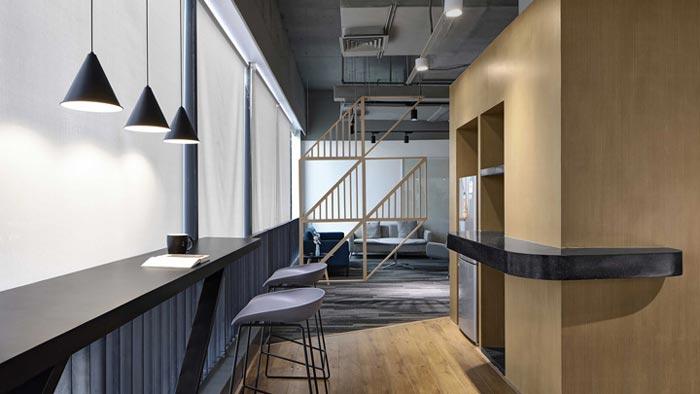 400平方办公室吧台设计方案