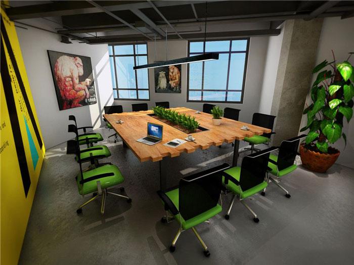 1450平方办公室办公空间软装设计方案效果图