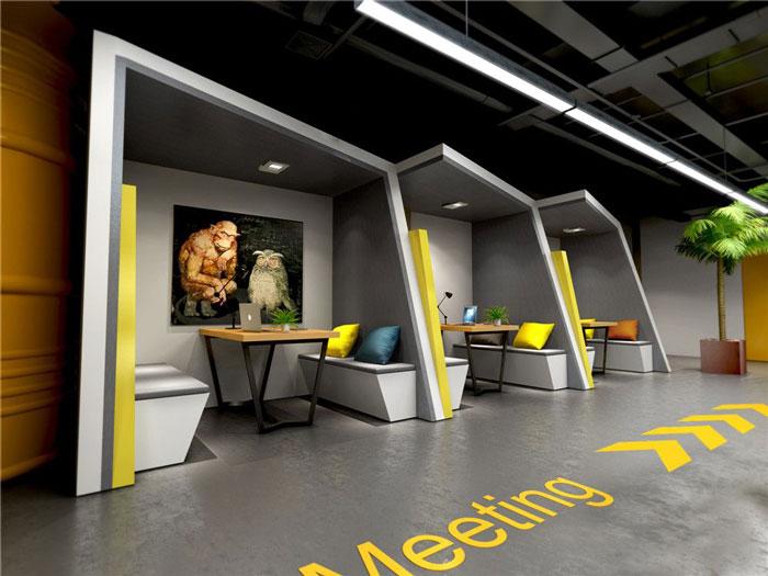 1450平方办公室洽谈区域软装设计方案效果图