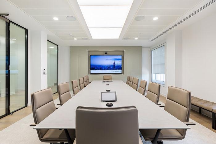 投资企业办公室会议室装修设计效果图